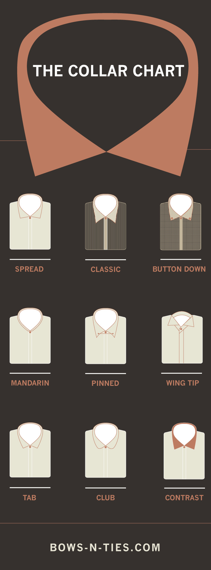 Chart For Men's Collared Shirts