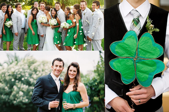 Groomsmen Accessories For Clover Green