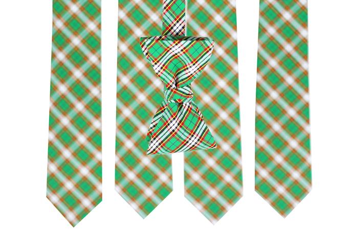 Patterned Clover Green Ties For Groomsmen