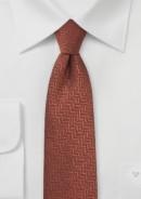 skinny-wool-tie-rust-red