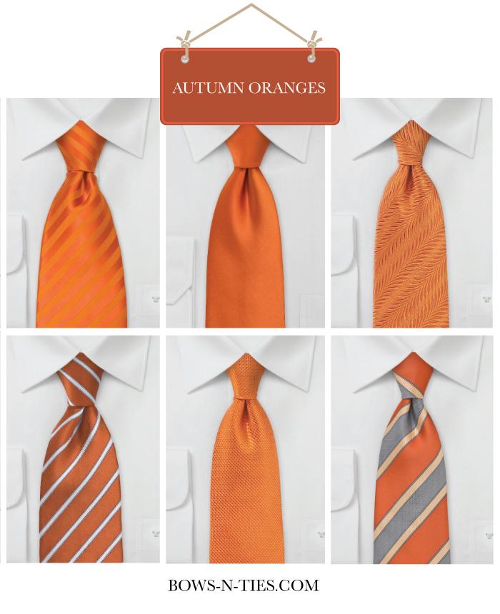 Menswear Ties For Orange Weddings