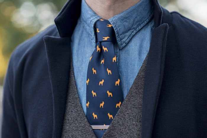 Dogs-N-Ties French Bulldog Tie