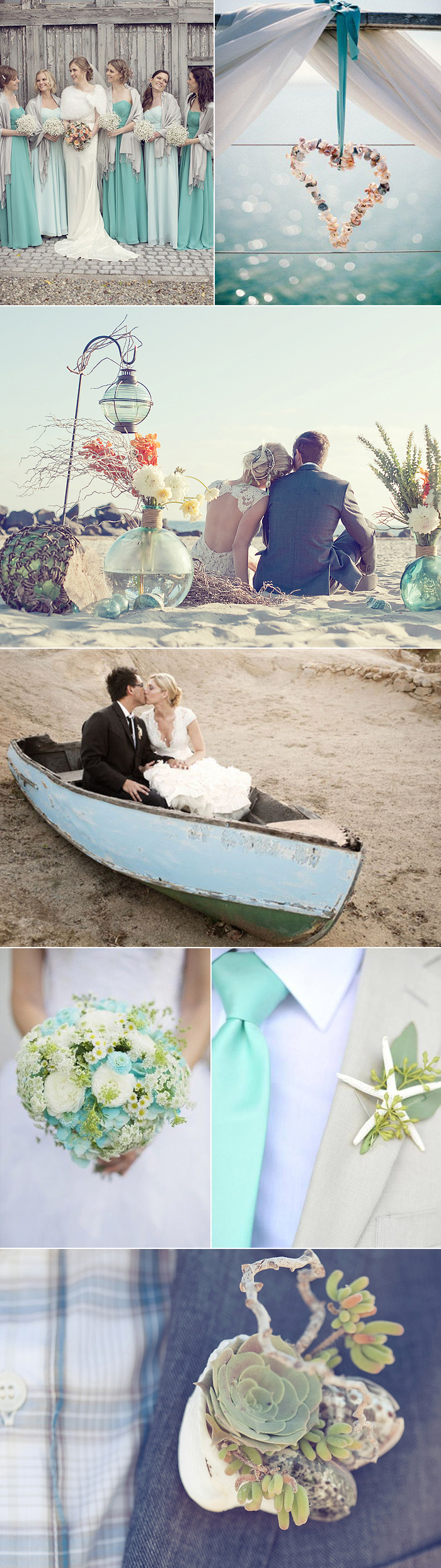 Wedding Color Inspiration for Beach Glass | Bows-N-Ties.com