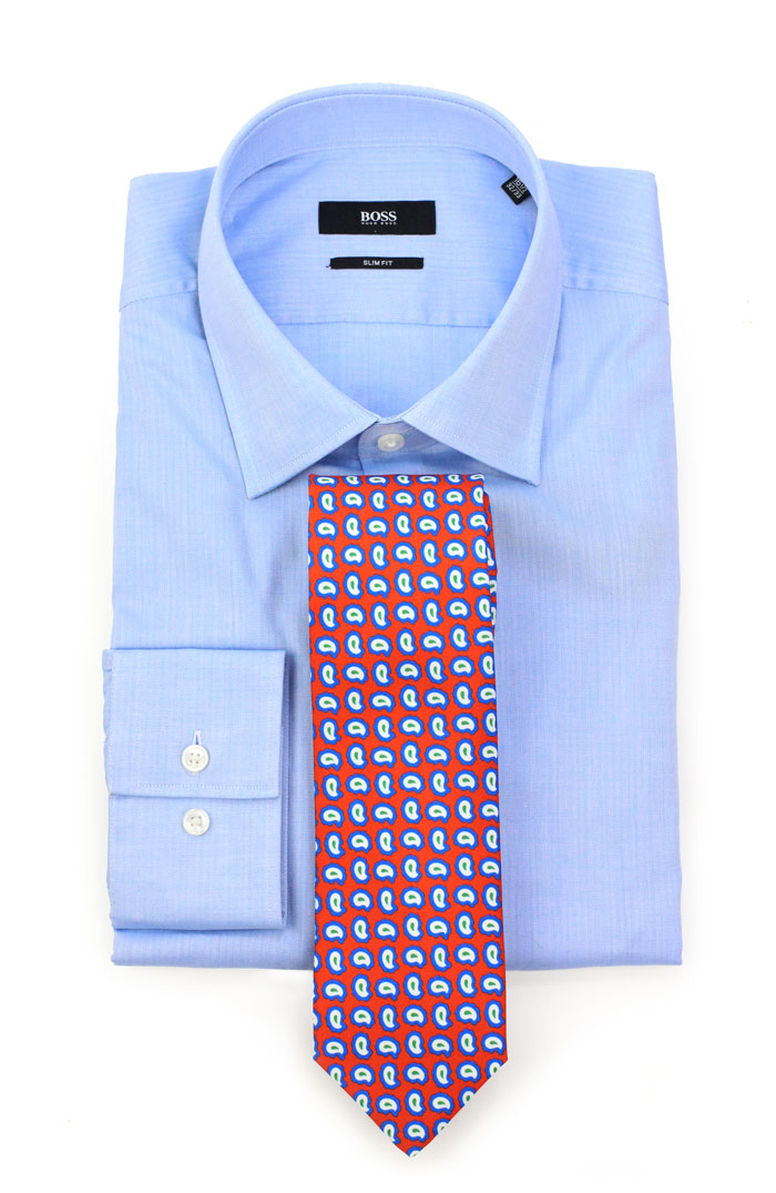 Graphic Pop Art Tie and Blue Shirt
