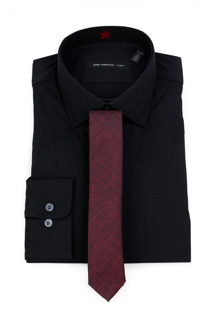 Four neckties to wear with black dress shirts ties to for Black shirt and black tie