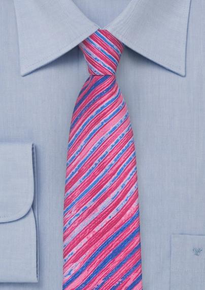 Pink + Purple Tie Dye Tie