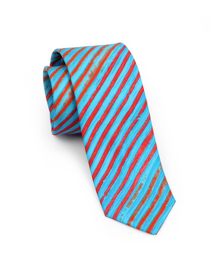 Tie Dye Patterned Tie in Turquoise