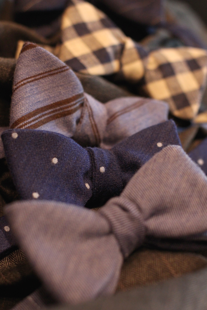 Winter Wool Self Tie Bow Ties Patterned and Solid Bow