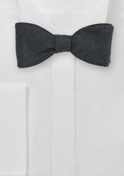 5e70ab79f378 Solid Charcoal Gray Bow Tie in Wool | Bows-N-Ties.com