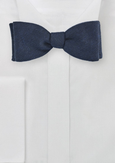 Wool Bow Tie in Navy