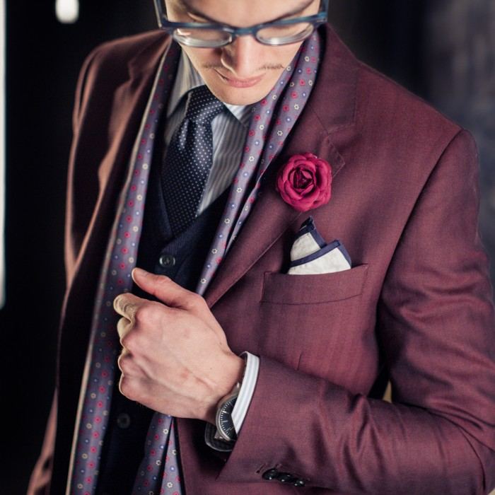 Purple Menswear Inspiration Purple Pin Dot Tie Purple