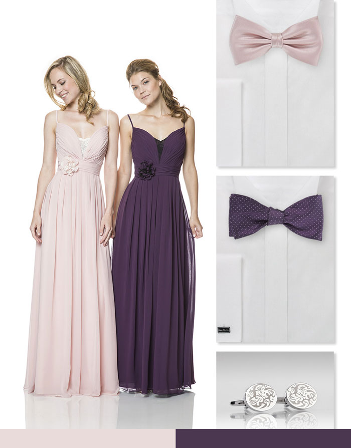 Wedding Party in Purple + Blush