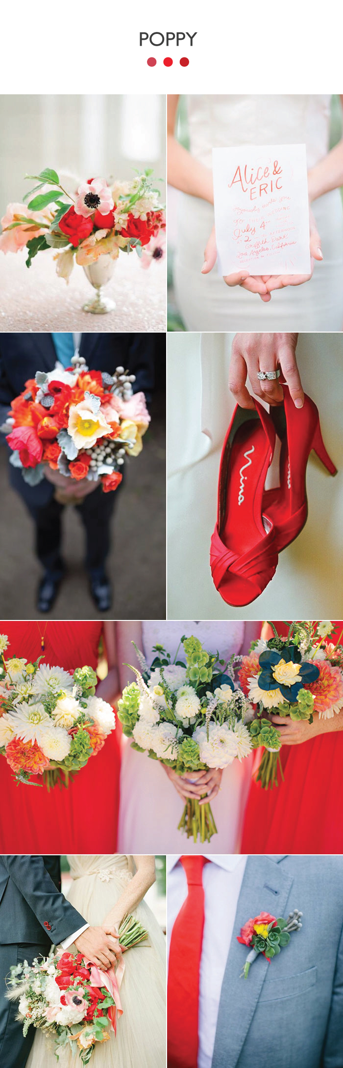 Poppy Wedding Color Board