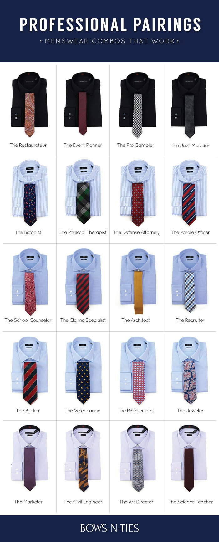 Mens Dress Shirt Tie Combo