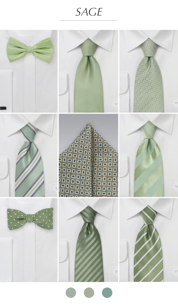 Wedding color inspiration for the color sage bows n ties groomsmen ties pocket squares in sage ombrellifo Gallery