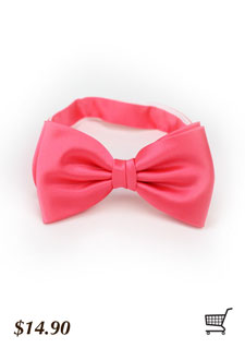 summer coral bow tie