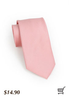 Rose Ribbed Tie