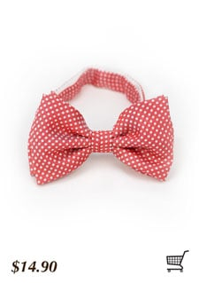 Mens Bow Tie in Coral Red