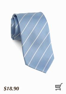 Cornflower and Silver Striped Tie