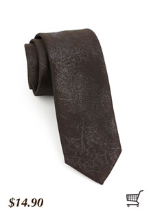 Faux Leather Skinny Tie