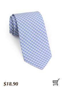 Gingham Tie in Cornflower Blue