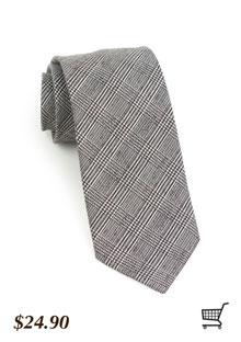 Glen Check Tie