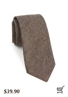 Herringbone Tie in Brown