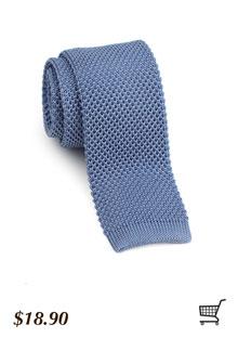 Knit Tie in Cornflower Blue