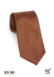 Latte Brown Tie