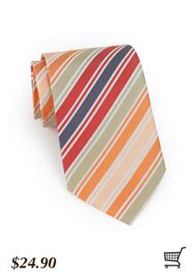 Orange + Taupe Tie