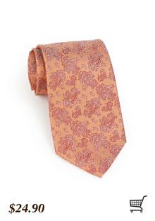 Paisley Tie in Rose Peach
