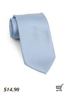 Pin Dot Tie in Cornflower