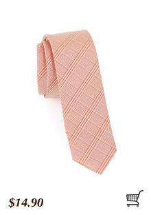 Plaid Skinny Tie