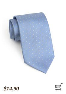 Polka Dot Tie in Cornflower