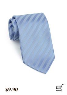 Striped Tie in Cornflower Blue