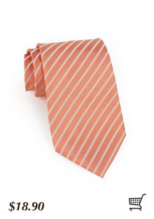 Striped Tie in Weather Rose