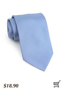 Textured Cornflower Blue Tie