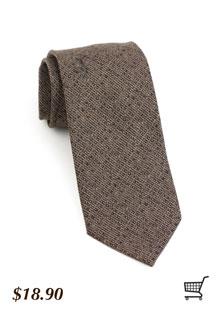 Textured Tie in Brown