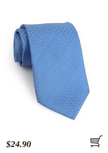 Textured Tie in Cornflower Blue