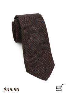 Wool Tie in Brown