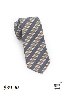 Rustic Tie in Browns and Blues