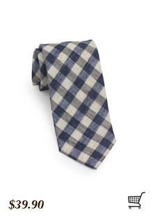 Skinny Gingham Necktie