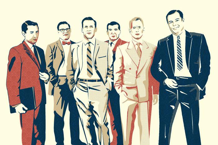 Außergewöhnlich Mad For Mad Men Menswear Styles | Tailored Suits and Striped Neckties #HP_79
