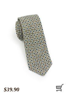 Retro Tie in Green and Blue