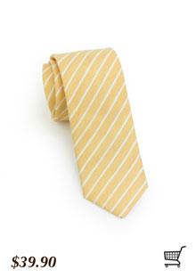 Vintage Yellow Striped Tie