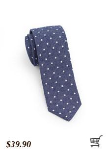 Textured Polka Dot Skinny Tie