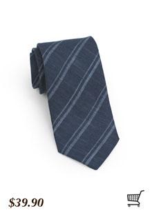 Striped Skinny Tie in Blues
