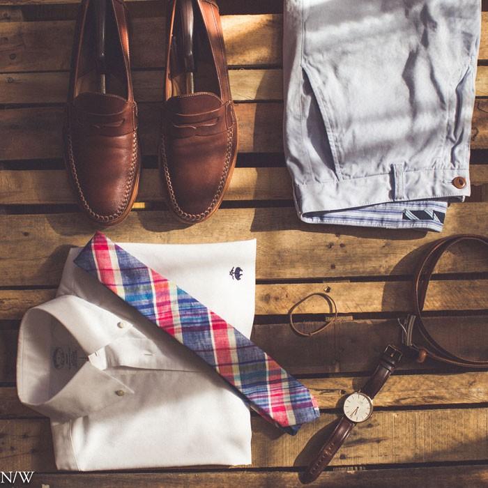Summer Menswear Look With Madras Tie