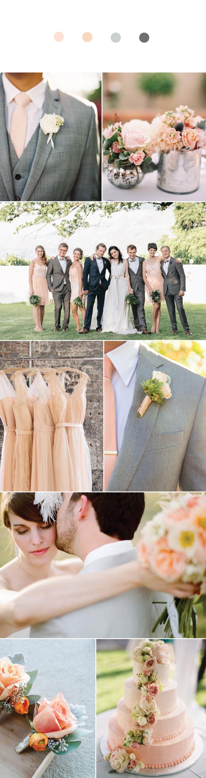 Peach + Gray Wedding Inspiration