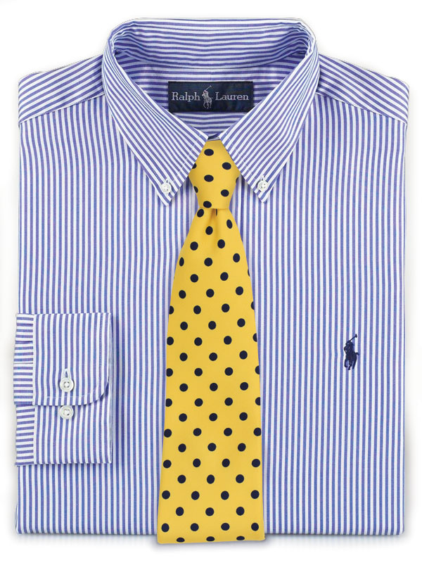 Find the best ties and bow ties to pair with a striped for Striped shirt with tie